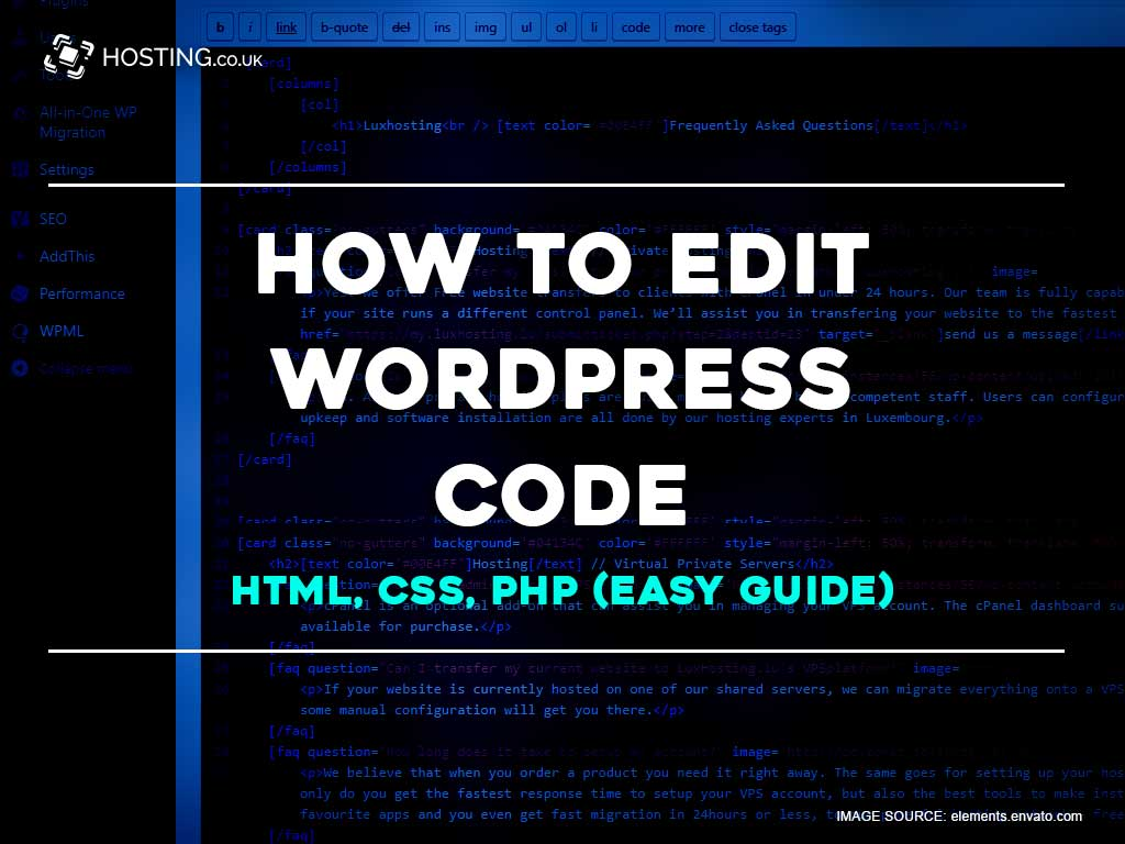 How to edit wordpress code